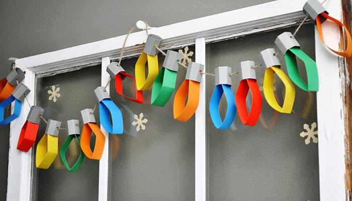 Самодельная бумажная гирлянда для декора детской комнаты