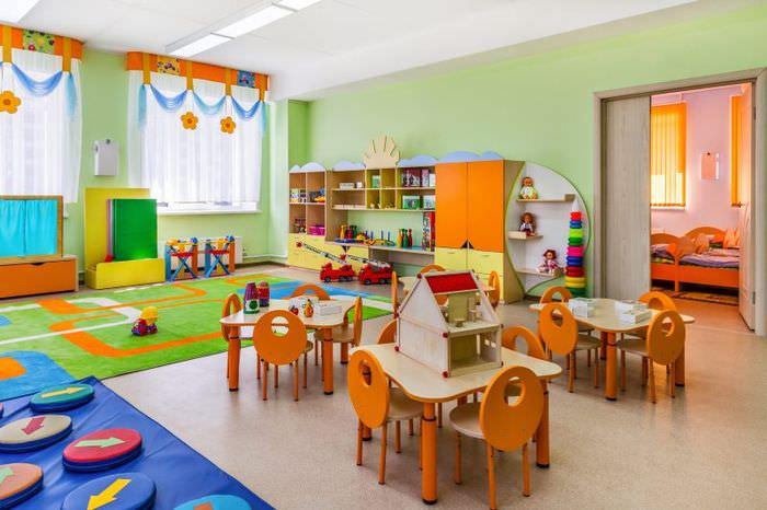 Интерьер групповой комнаты в детском саду