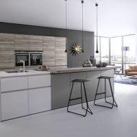Дизайн кухни-гостиной в стиле минимализма
