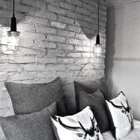 Пордвесные светильники над изголовьем кровати