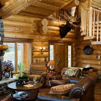 Оформление места для отдыха перед камином в гостиной