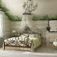 Двухспальная кровать на кованном каркасе