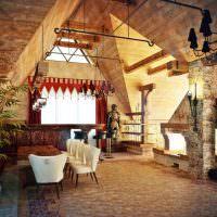 Дизайн гостиной со сложным потолком