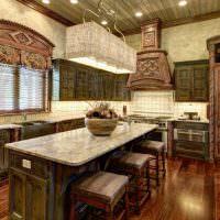 Состаренные поверхности деревянной мебели