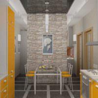 Желтый цвет в дизайне кухни