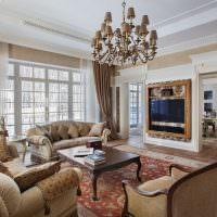 Дизайн гостиной в стиле классицизма