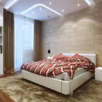 Дизайн спальни с ковром на полу