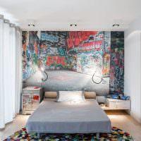 Самодельный ковер в спальне молодого человека