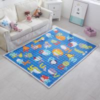 Синий коврик в детской комнате