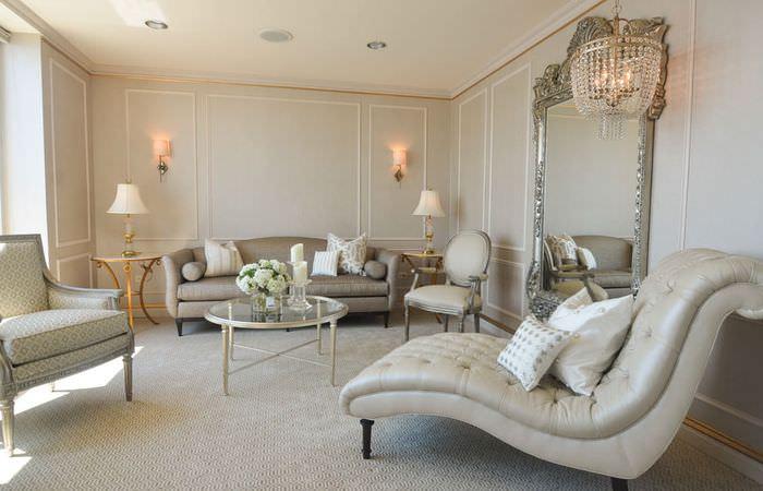 Современная гостиная в классическом стиле