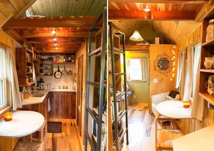 Интерьер маленькой кухни в дачном домике