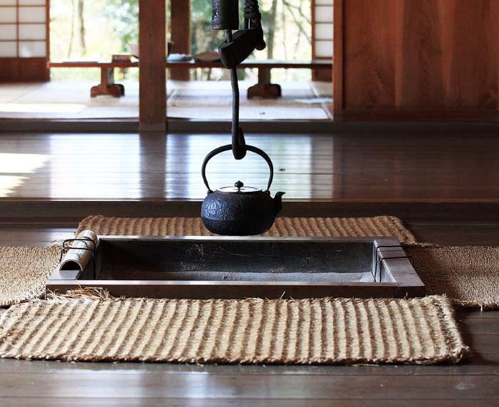 Циновка в интерьере японского стиля