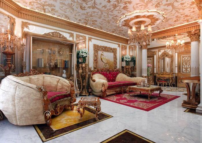 Красивая гостиная в восточном стиле