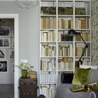 Встроенные стеллажи для хранения книг