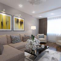 Модульные картины в дизайне гостиной