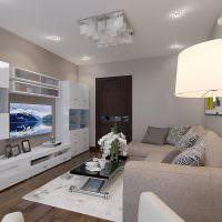 Дизайн-проект гостиной в современной квартире