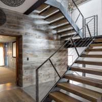 Дизайн маршевой лестницы в частном доме