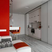 Дизайн кухни в квартире-студии