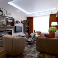 Светодиодная подсветка белого потолка