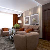 Оформление места для отдыха в гостином помещении