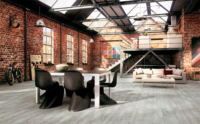 Промышленный дизайн современной гостиной