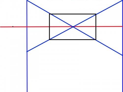 Рисование стены комнаты в угловой проекции