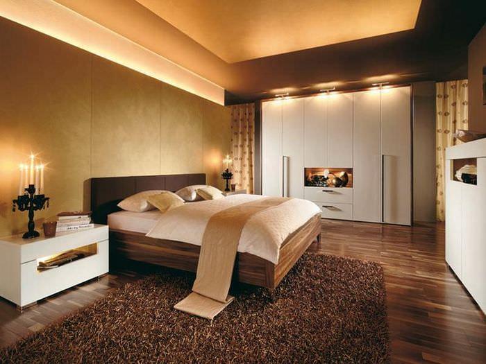 Организация освещения в спальне стиля модерн