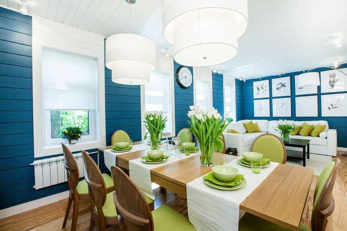 Сервировка обеденного стола в частном доме
