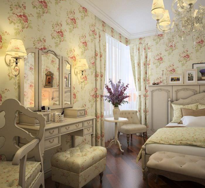 Красивое трюмо в спальне стиля прованс