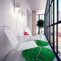 Зеленые коврики круглой формы