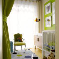 Легкая прозрачная занавеска в детской комнате
