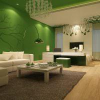 Бирюзовый цвет в интерьере гостиной комнаты