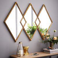 Композиция из трех зеркал ромбической формы