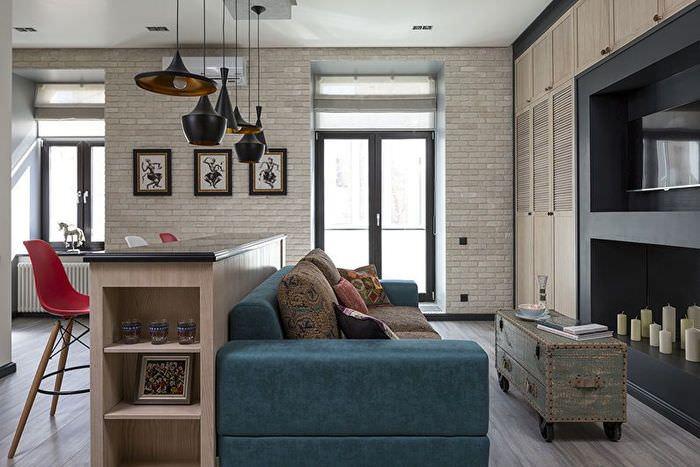 Разделение комнаты с помощью мебели