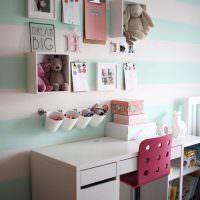 Украшение стены над письменным столом юной школьницы