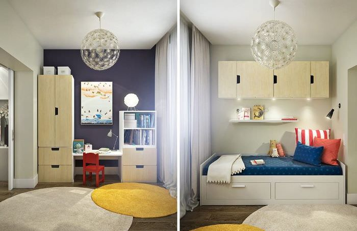 Обустройство детской зоны в совмещенной гостиной