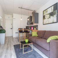 Дизайн узкой кухни-гостиной в панельном доме