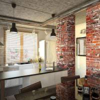Дизайн кухни с кирпичными стенами