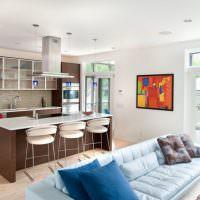 Дизайн кухни-гостиной в загородном доме