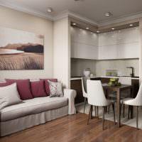 Оформление интерьера кухни в пастельных тонах