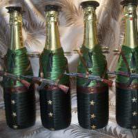 Декорирование шампанского в военной тематике