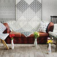 Декор мебели красивыми накидками