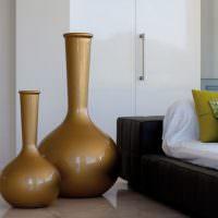 Напольные вазы каплевидной формы