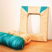 Цветная пряжа для украшения интерьера