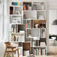 Простые модульные полки для книг
