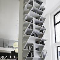 Ромбовидные полки для размещения книг
