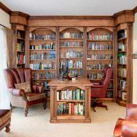Деревянная мебель для хранения книг