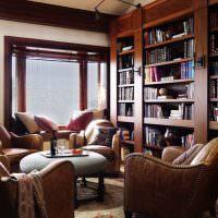Кожаные кресла коричневого цвета