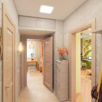 Дизайн узкой прихожей в городской квартире