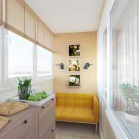 Дизайн благоустроенного балкона в современной квартире